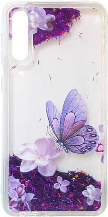Накладка SA A505/A307 violet baterfly аквариум, фото 2