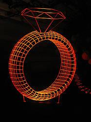 3d-светильник Кольцо с бриллиантом, 3д-ночник, несколько подсветок (на батарейке)