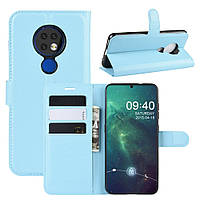 Чехол Luxury для Nokia 6.2 книжка голубой