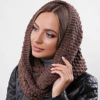 Вязаный снуд, хомут, шарф теплый зимний