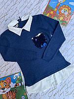 Рубашка-обманка на девочку 8-14 лет