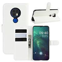 Чехол Luxury для Nokia 6.2 книжка белый