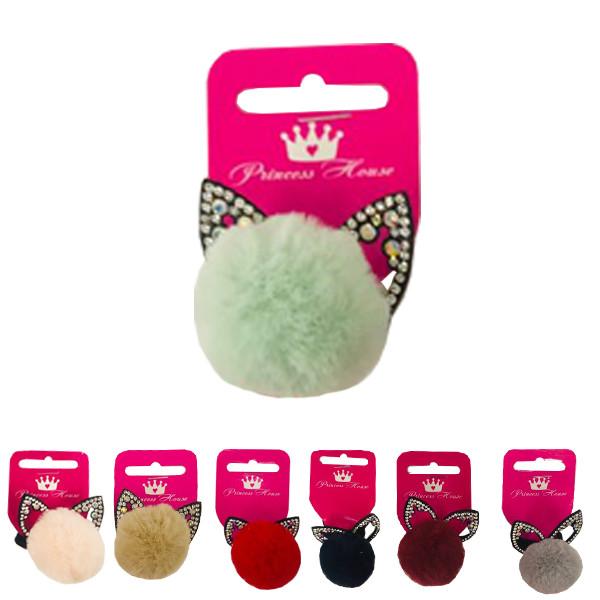 Резинка для волос помпон Ушки котика