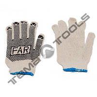 Рабочие перчатки FAR с ПВХ точкой 60г