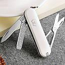 Нож складной, мультитул Victorinox Classic SD (58мм, 7 функций), белый 0.6223.7, фото 5