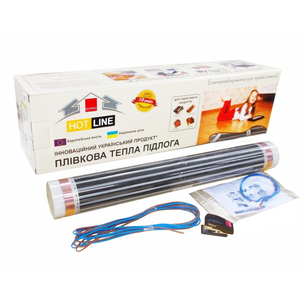 Нагревательная инфракрасная пленка HOT LINE ПП-4 880Вт (0,5x8м) 4кв.м,