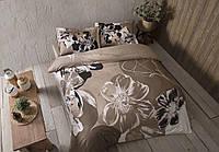 Комплект постельного белья из Сатина двуспальный евро TAC Serah Camel