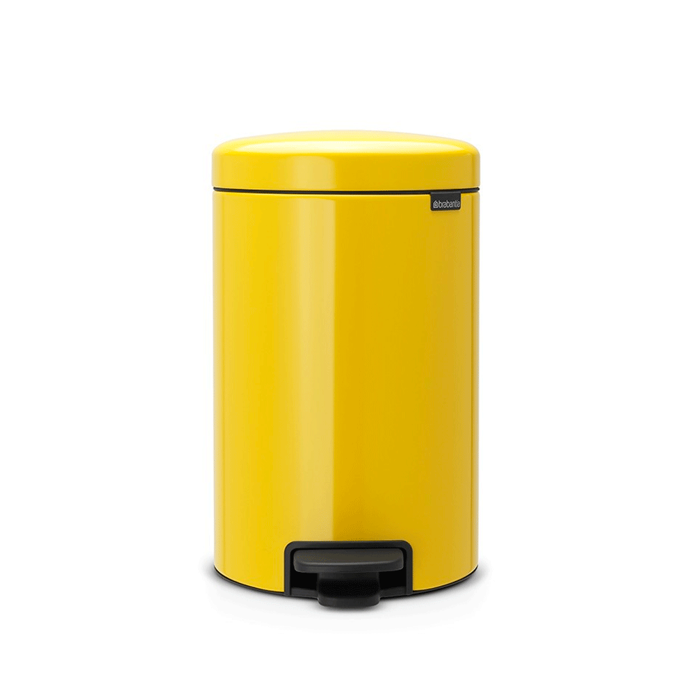 Бак для мусора Brabantia NewIcon Pedal Bin 12 л Daisy Yellow