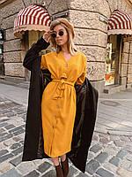 Теплое платье горчица женское, фото 1