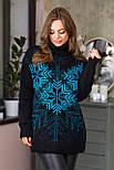 Теплый свитер со снежинками «Сказка», фото 4