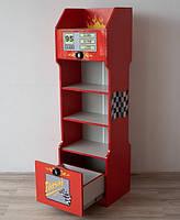 Книжный шкаф Embawood Форсаж Детский красный с серым