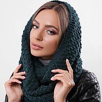 Женский вязаный хомут, снуд, шарф