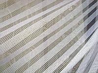 """Тюль в полоску вертикальную Высота 2,95 м Белая микросетка / шиниловая нить """"Эксклюзив-2"""" Турция"""