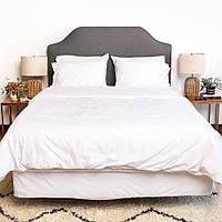Льняное постельное бельё комплект Семейный ЛинТекс Белое