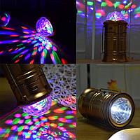 Фонарь MAGIC COOL кемпинговый светодиодный + лазер диско DR-666 с USB