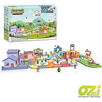 Детский автотрек с мостом и  городом Beibe Good Funny town 889-903 218 ел