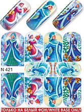 """Слайдер - дизайн Milv """"Новый Год"""" N 421 (водные наклейки)"""
