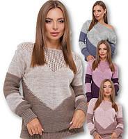 Женский свитер двухцветный, фото 1
