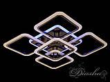Світлодіодна люстра в кольорі чорний хром A8060/4+1BHR LED 3color dimmer, фото 2