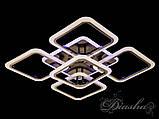 Світлодіодна люстра в кольорі чорний хром A8060/4+1BHR LED 3color dimmer, фото 3