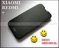 Оригинальный черный чехол книжка для Xiaomi redmi 7 black mofi