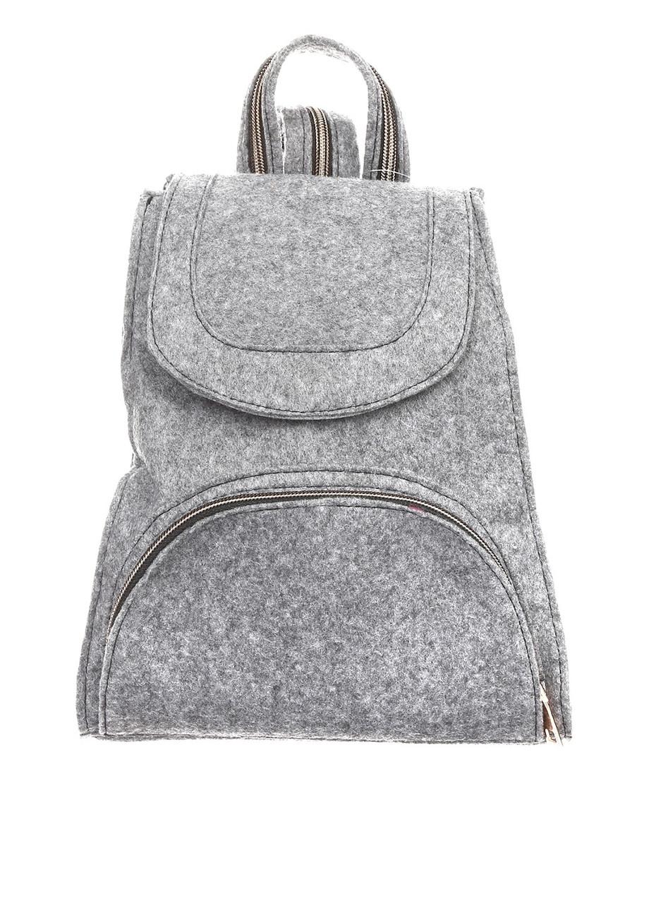 Рюкзак молодежный суконный Betty Pretty серый 793971