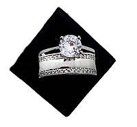 Кільце з срібла 925 Beauty Bar в стилі весільної модель Line (розміри 16,5-18), фото 1