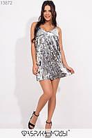 Короткое платье из пайетки Разные цвета
