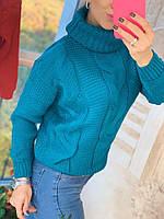 Свитер женский стильный, теплый, синий, 211-0777-3, фото 1