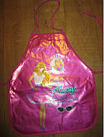 Детский плотный фартук без нарукавников Barbie, фото 1