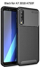 Чехол бампер Carbon Armor для Samsung Galaxy A7 A750 2018