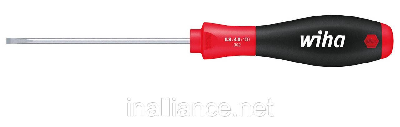 Шлицевая отвертка SL 3,5 х 100 мм для электриков круглое жало SoftFinish Wiha 00691