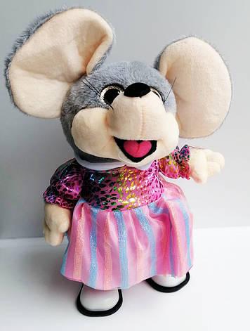 Поющая и танцующая мягкая игрушка 1214 Мышка в тканевой юбке, фото 2