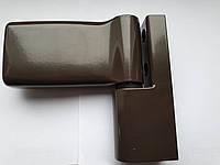 Петля дверная JOCKER для ПВХ коричневая