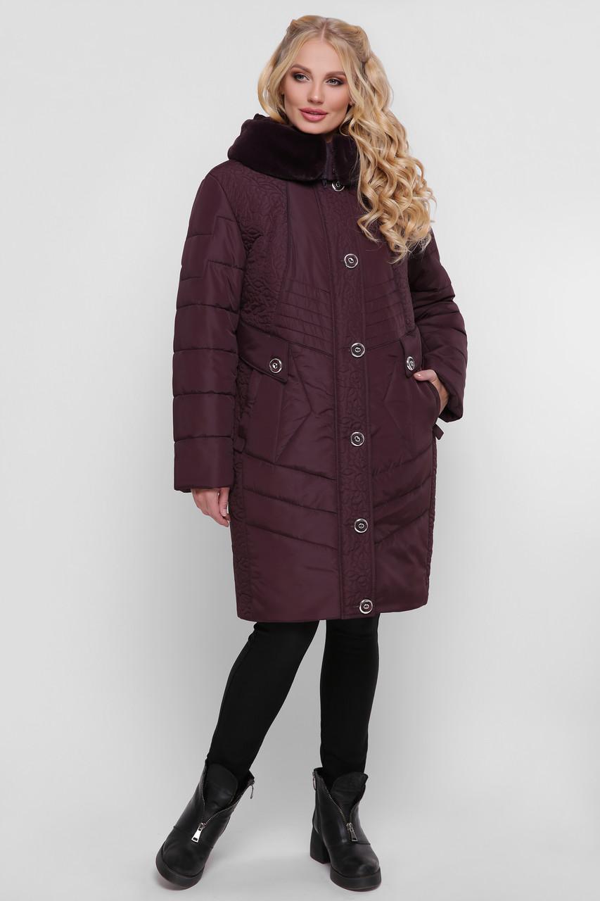 Куртка женская зимняя Лилия бордо