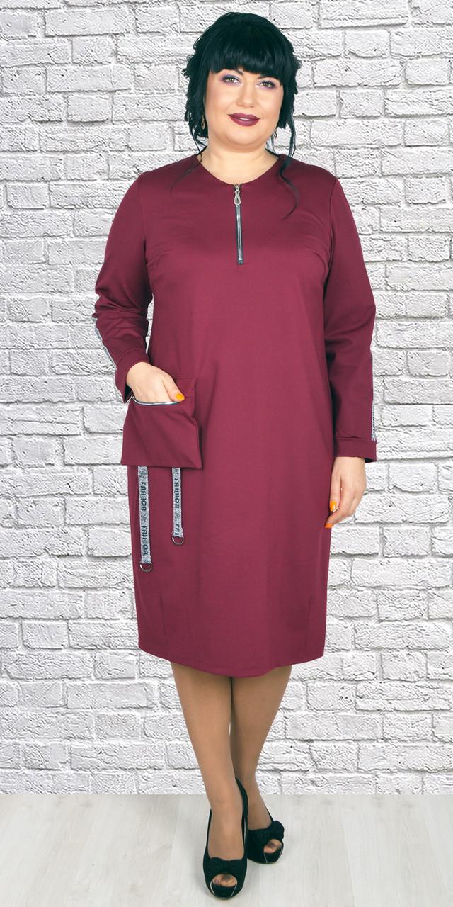 фотография молодежное женское платье бордового цвета