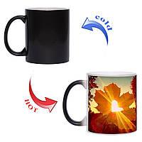 Чашка хамелеон Осенняя романтика 330 мл, фото 1