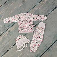 Комплект одежды для новорожденного (интерлок), р. 62