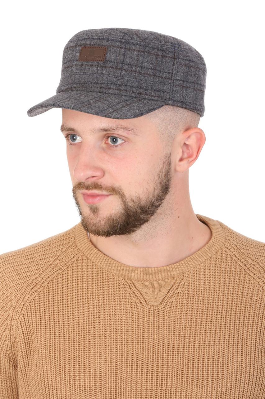 Кепка натовка мужская из ткани светло-серая