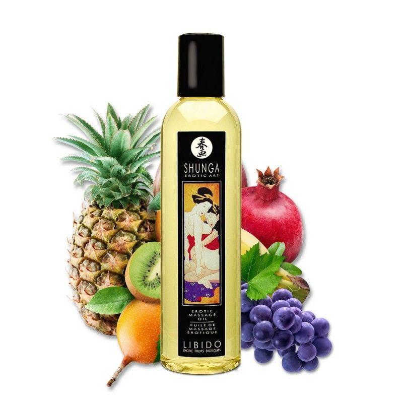 Массажное масло Shunga Libido - Exotic Fruit (250 мл)