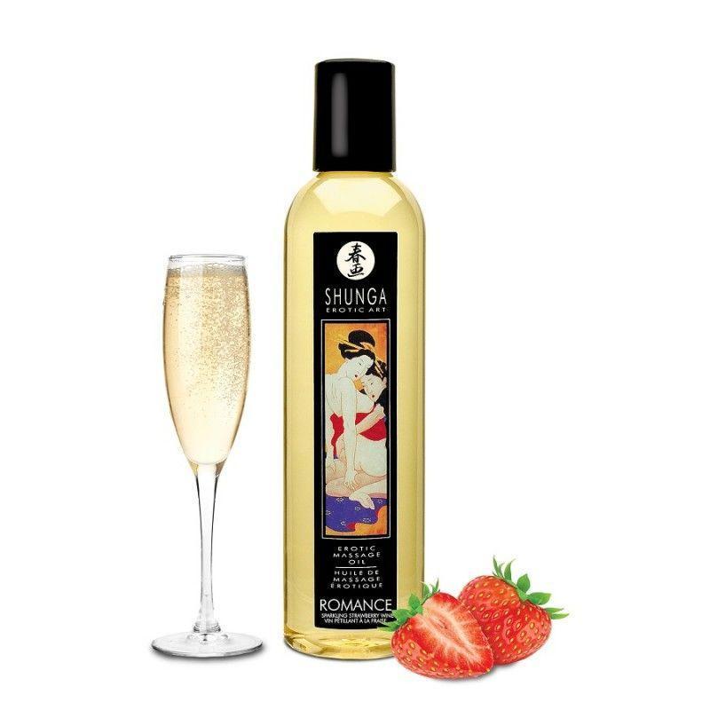 Массажное масло Shunga Romance - Sparkling Strawberry Wine (250 мл)