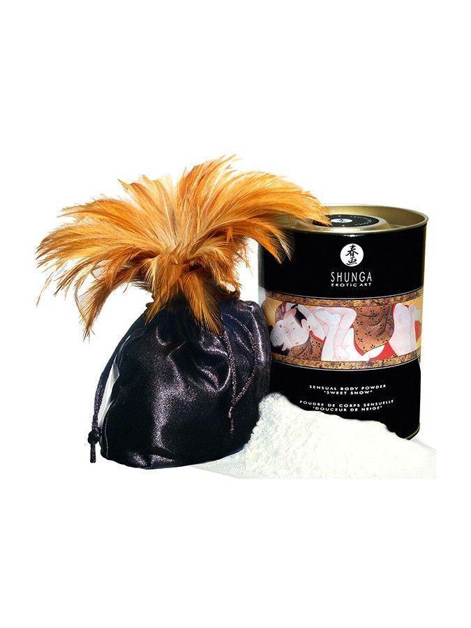 Съедобная пудра для тела Shunga Sweet Snow Body Powder - Honey of the Nymphs (228 грамм)