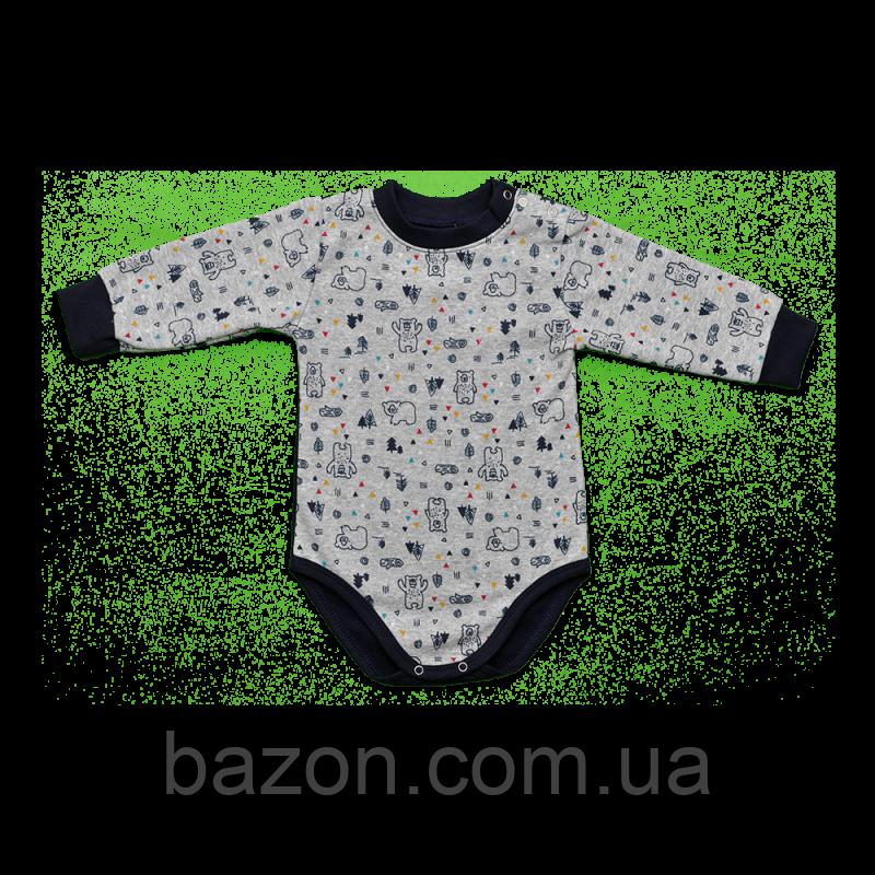 Боді для малюка Dexters Норвегія Сірий (розміри 80 см, 86 см, 92, 98 см)