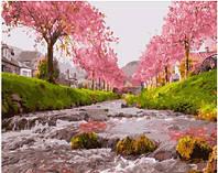 Картина по номерам Brushme Река у сакуры