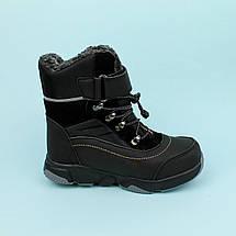 Чорні термо черевики зимові на хлопчика тм Тому.м розмір 36, фото 3