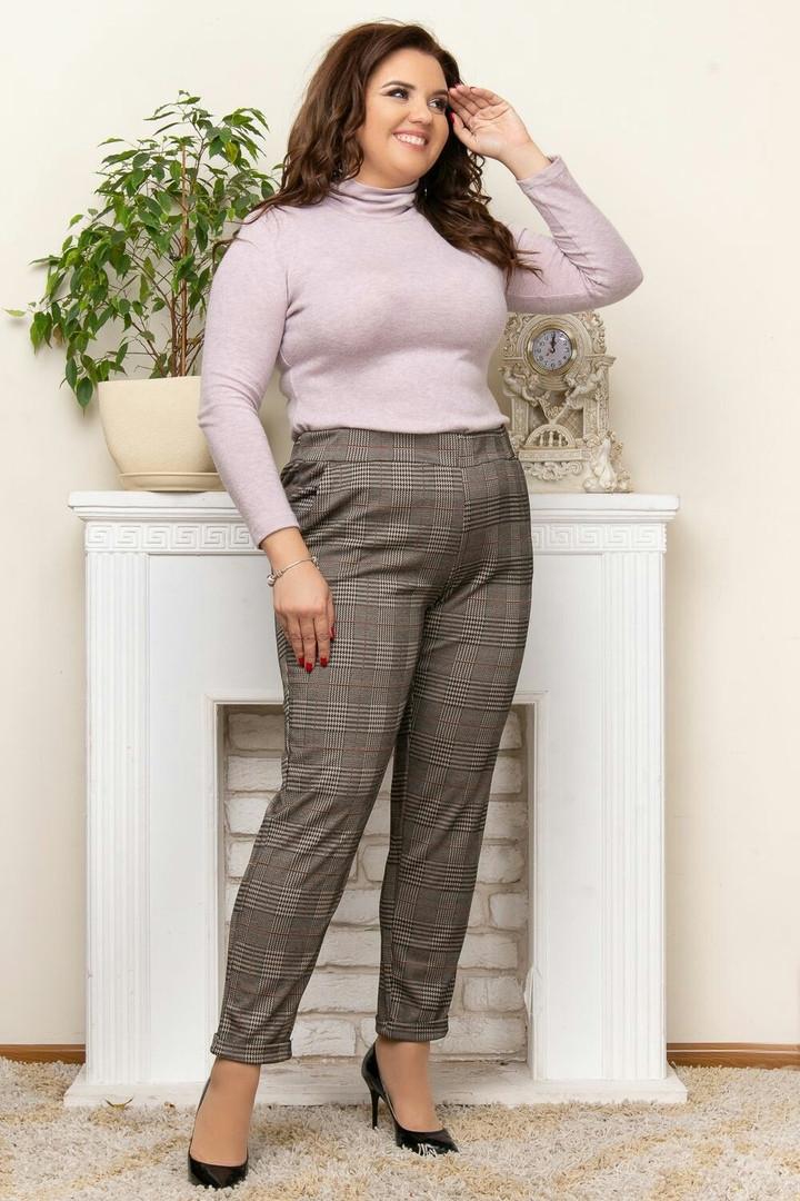 Женские стильные брюки  ЛГ257 (бат)