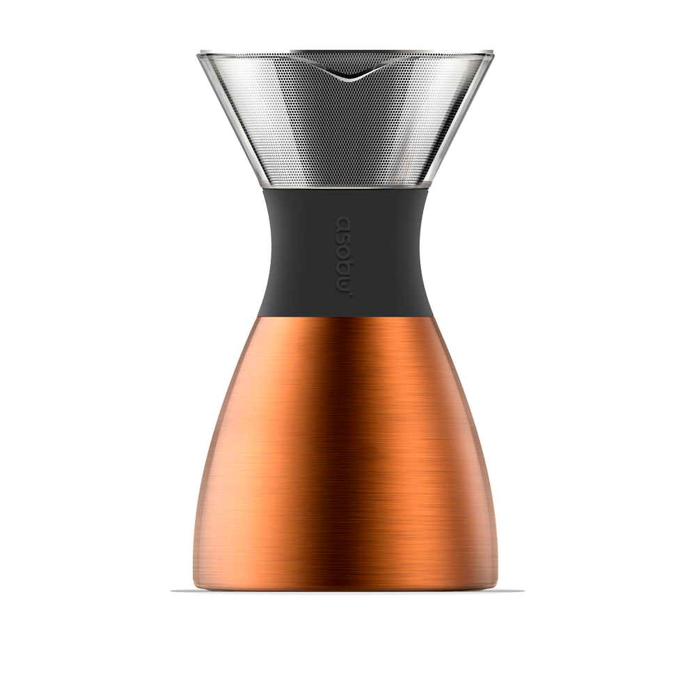 Кофеварка Asobu Pour Over Copper and Black 1.18 л