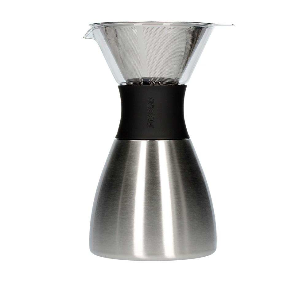 Кофеварка Asobu Pour Over Silver and Black 1.18 л