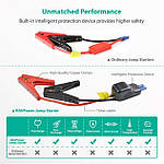 RavPower 10000mAh 400A Peak Current Portable Car Battery Charger with Smart Jumper (RP-PB008), фото 6