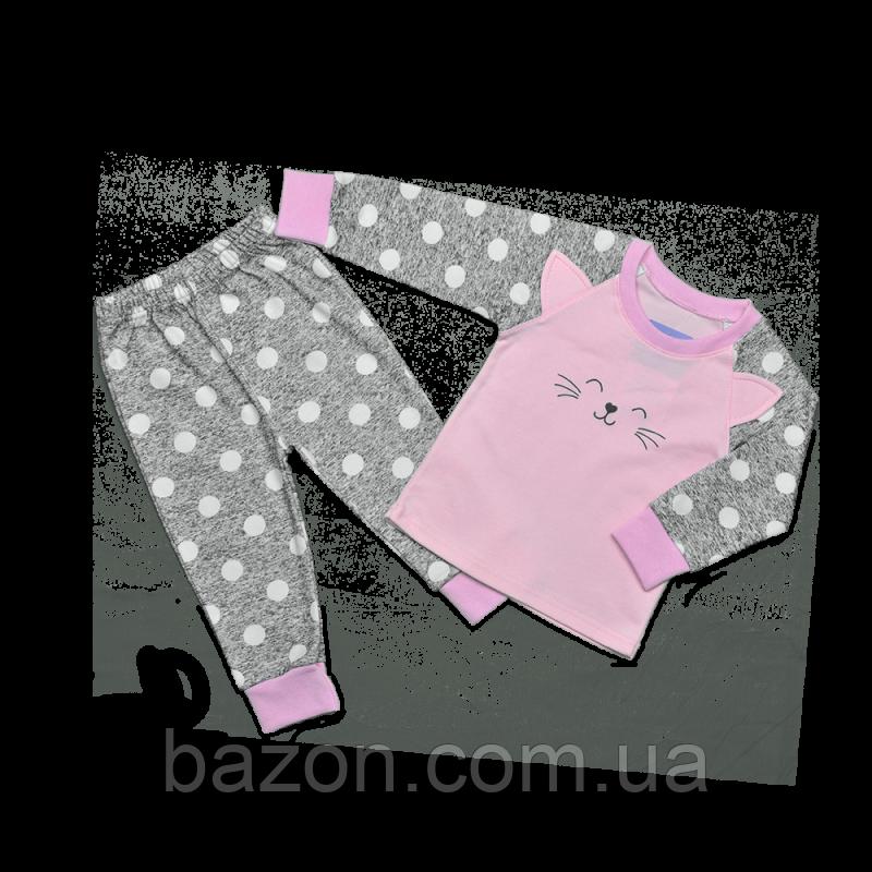Дитяча піжама для дівчинки Dexters Щасливий кіт (розміри 128 см, 134 см)